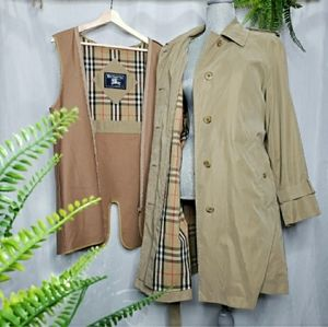 Authentic Burberry Vintage Nova Check Trench Coat